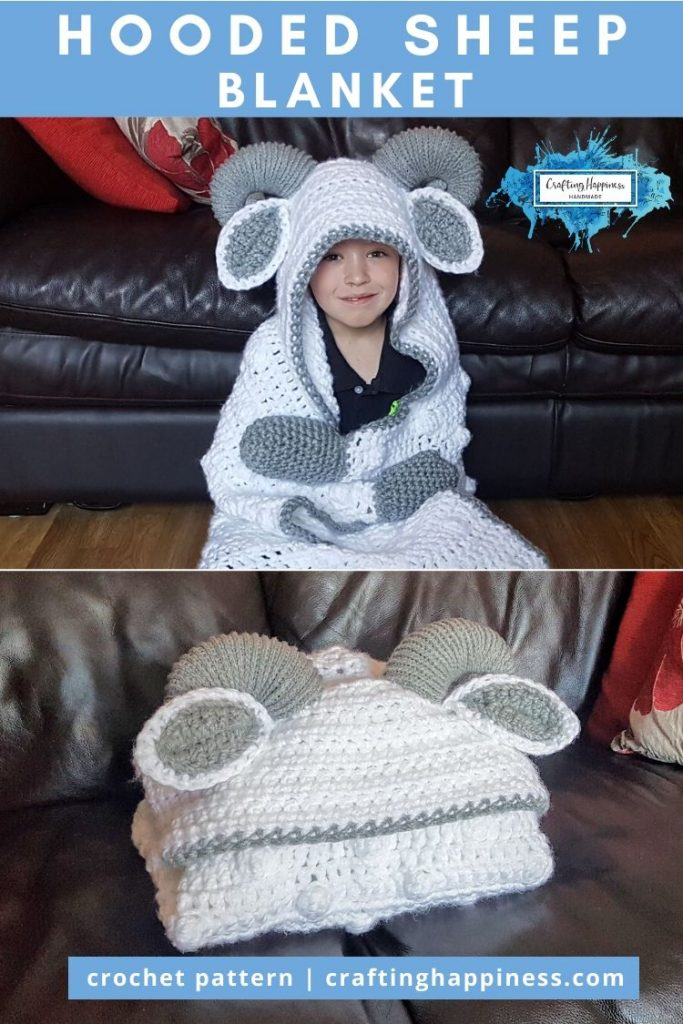 Hooded Sheep Blanket Pattern by Crafting Happiness PINTEREST POSTER 6
