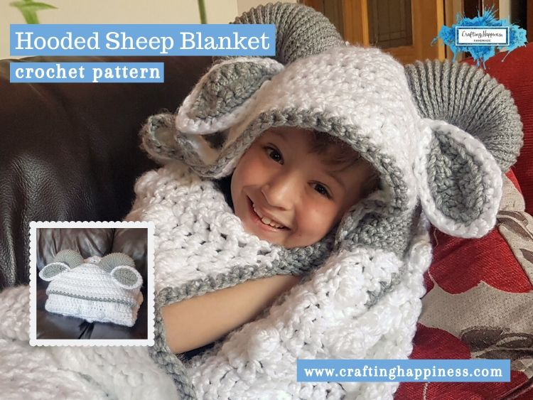 Hooded Sheep Blanket by Crafting Happiness FACEBOOK POSTER