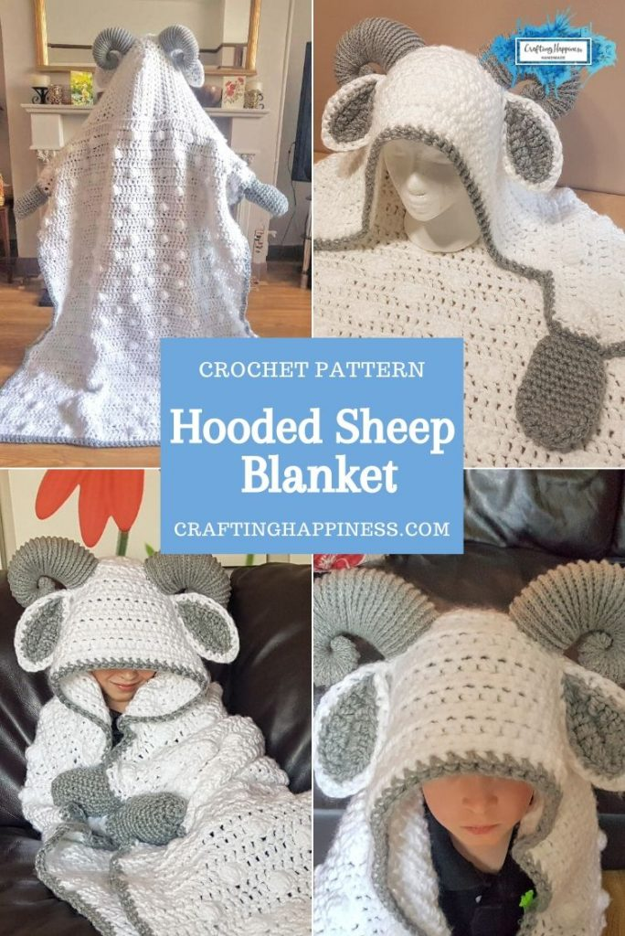 Hooded Sheep Blanket by Crafting Happiness PINTEREST POSTER 3