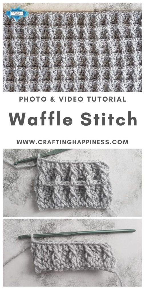 Waffle Stitch by Crafting Happiness MAIN PINTEREST POSTER 1