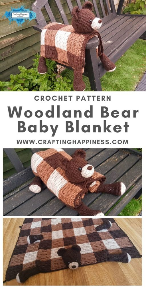 Bear Baby Blanket by Crafting Happiness MAIN PINTEREST POSTER 1