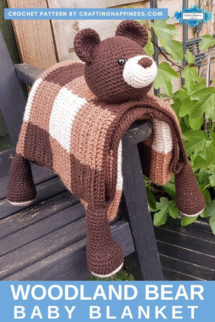 Bear Baby Blanket by Crafting Happiness PINTEREST POSTER 2