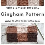 Double Row Gingham Pattern by Crafting Happiness MAIN PINTEREST POSTER 1