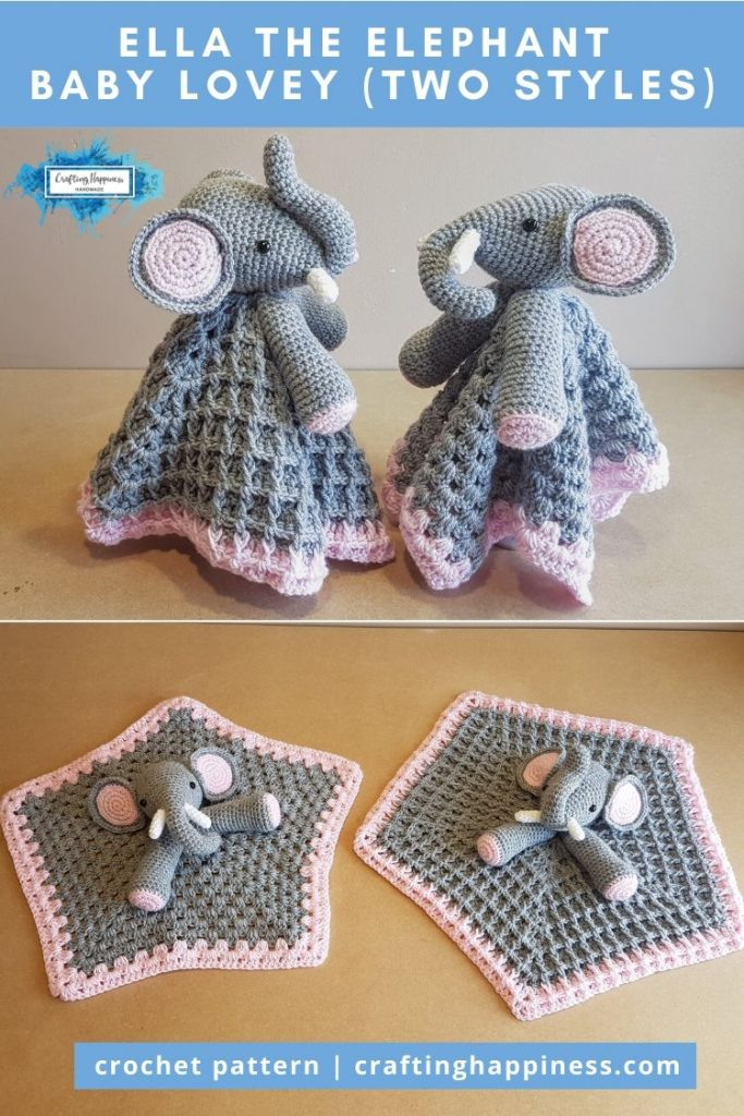 Ella the Elephant Baby Lovey Baby by Crafting Happiness PINTEREST POSTER 6