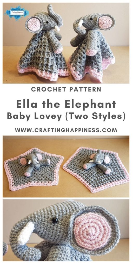 Ella the Elephant Baby Lovey by Crafting Happiness MAIN PINTEREST POSTER 1