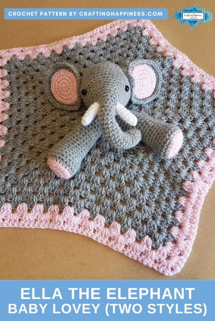 Ella the Elephant Baby Lovey by Crafting Happiness PINTEREST POSTER 2