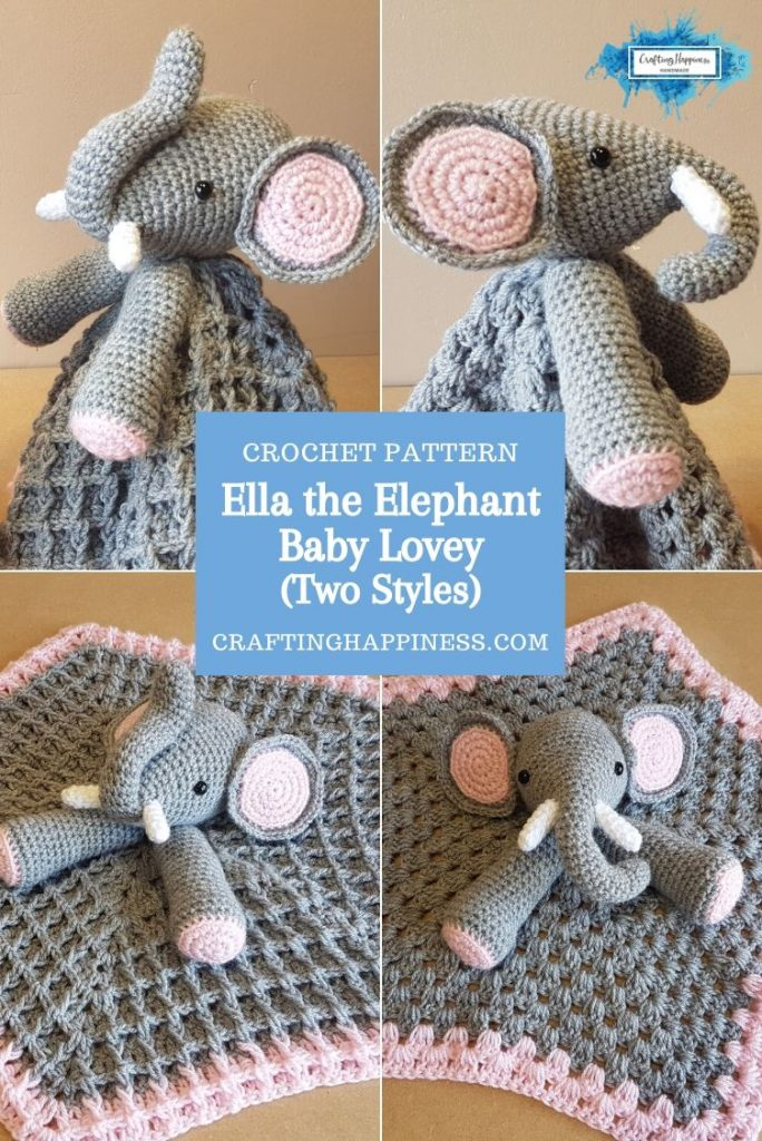 Ella the Elephant Baby Lovey by Crafting Happiness PINTEREST POSTER 3