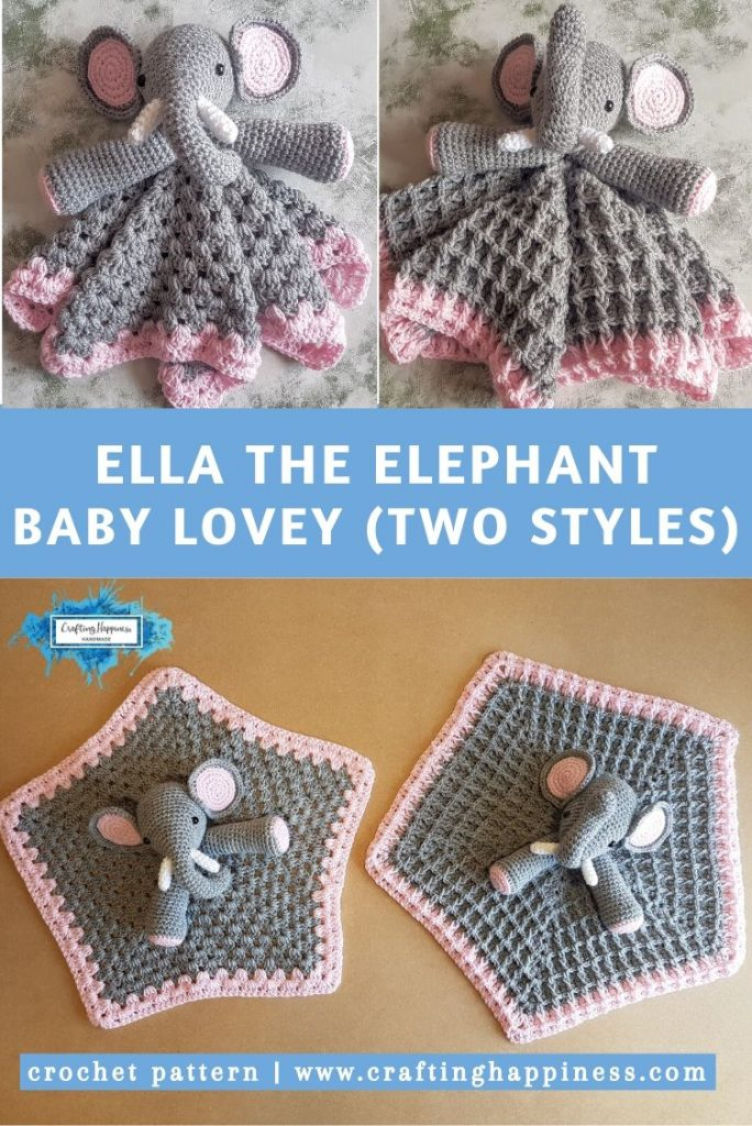 Ella the Elephant Baby Lovey by Crafting Happiness PINTEREST POSTER 5