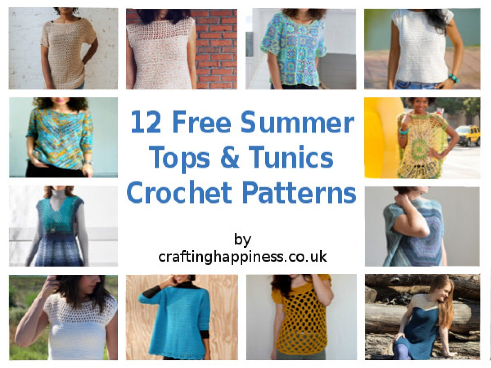 12 Free Summer Tops & Tunics Crochet Patterns