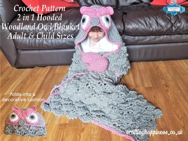 Cool Crochet 2In1 Woodland Owl Hooded Blanket For Adults Beatyapartments Chair Design Images Beatyapartmentscom