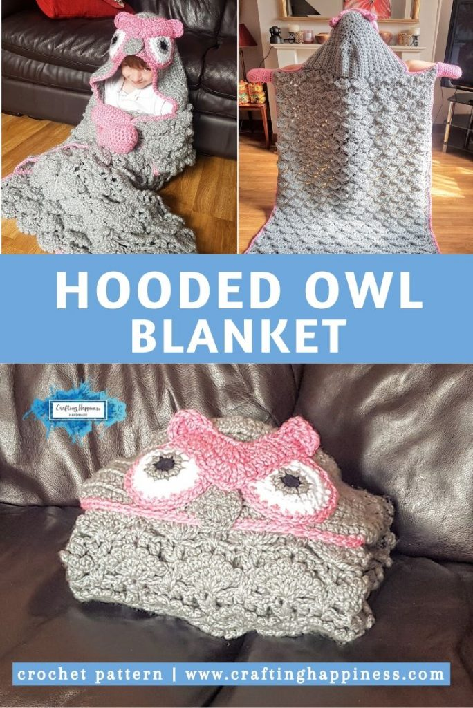 Hooded Owl Baby Blanket by Crafting Happiness PINTEREST POSTER 5