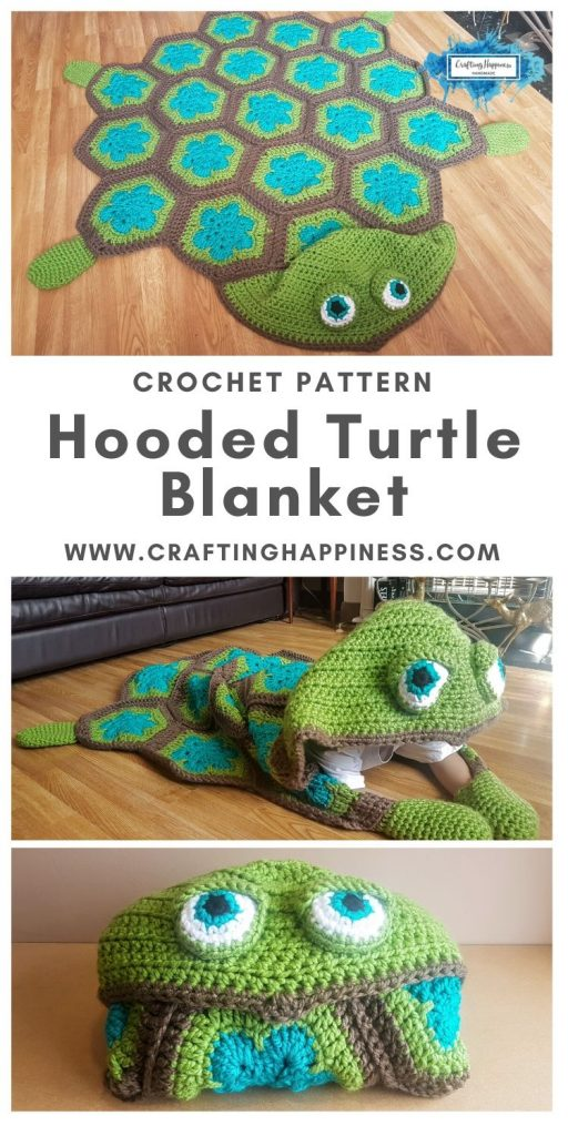 Hooded Turtle Blanket Pattern by Crafting Happiness MAIN PINTEREST POSTER 1