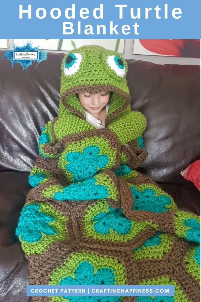 Hooded Turtle Blanket Pattern by Crafting Happiness PINTEREST POSTER 4