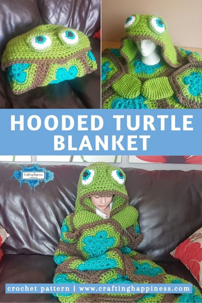 Hooded Turtle Blanket Pattern by Crafting Happiness PINTEREST POSTER 5