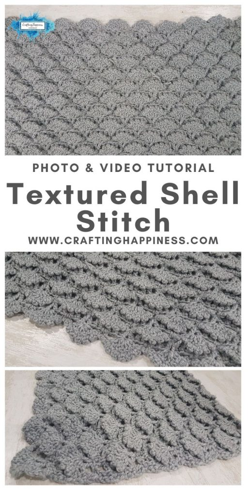 Textured Shell Stitch by Crafting Happiness MAIN PINTEREST POSTER 1
