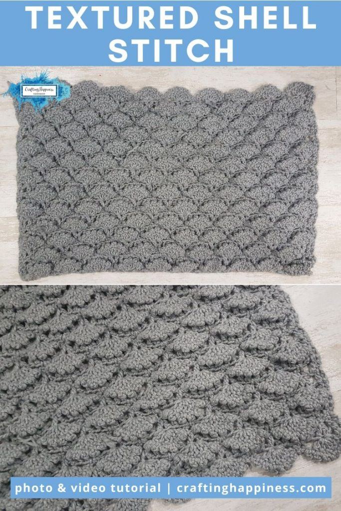Textured Shell Stitch by Crafting Happiness PINTEREST POSTER 6