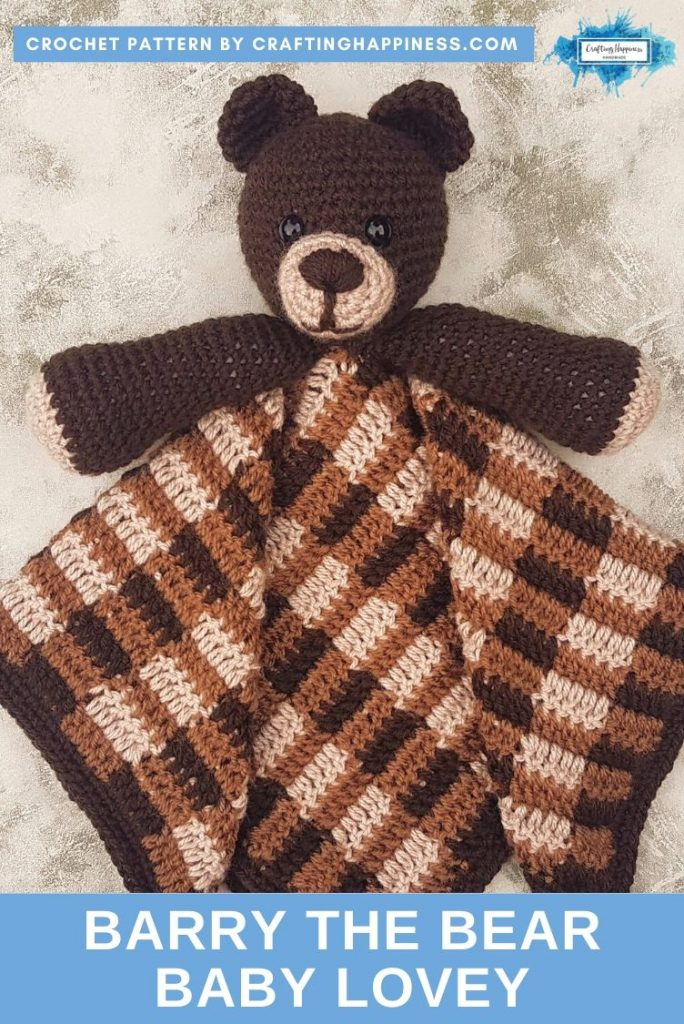 Barry the Bear Baby Lovey by Crafting Happiness PINTEREST POSTER 2