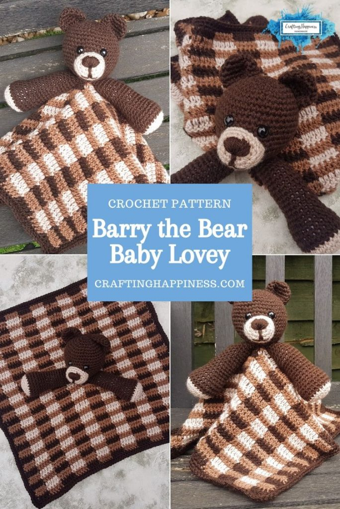 Barry the Bear Baby Lovey by Crafting Happiness PINTEREST POSTER 3