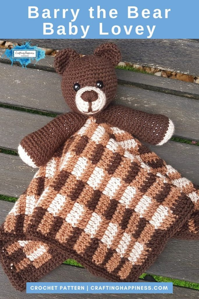 Barry the Bear Baby Lovey by Crafting Happiness PINTEREST POSTER 4