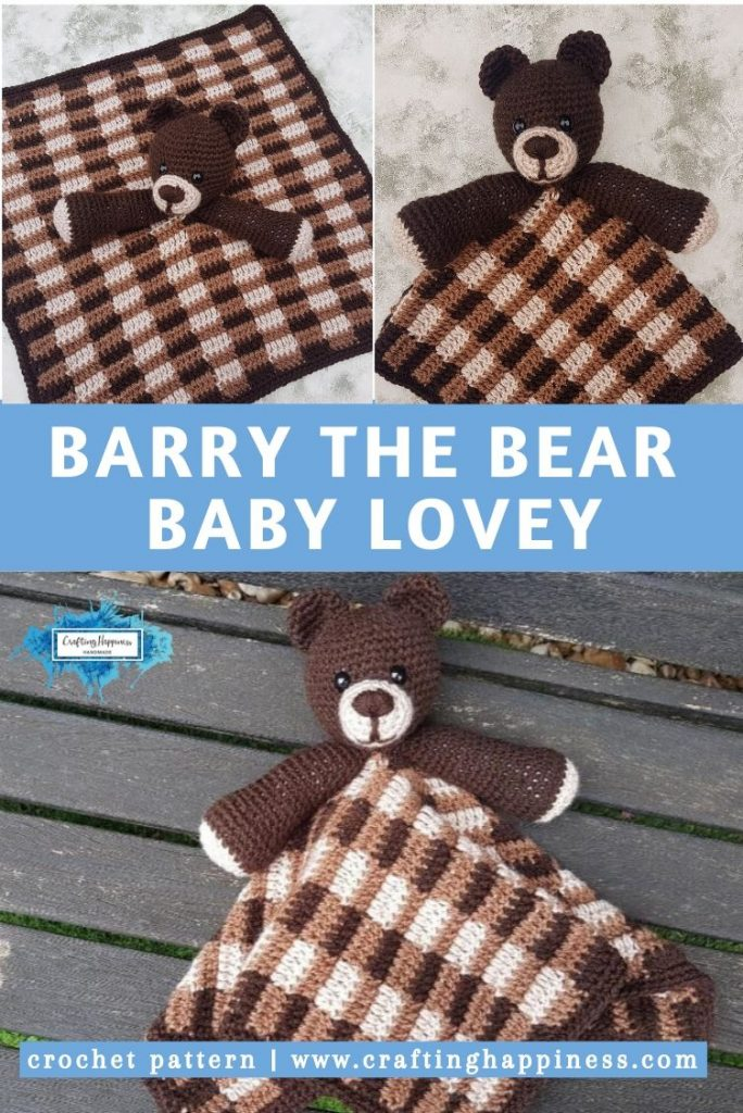 Barry the Bear Baby Lovey by Crafting Happiness PINTEREST POSTER 5