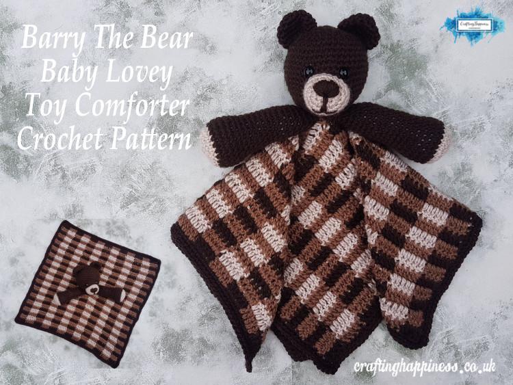 Baby Teddy Comforter Lovey Blanket DK Knitting Pattern Easy Make