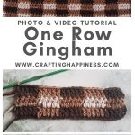 One Row Gingham Pattern by Crafting Happiness MAIN PINTEREST POSTER 1