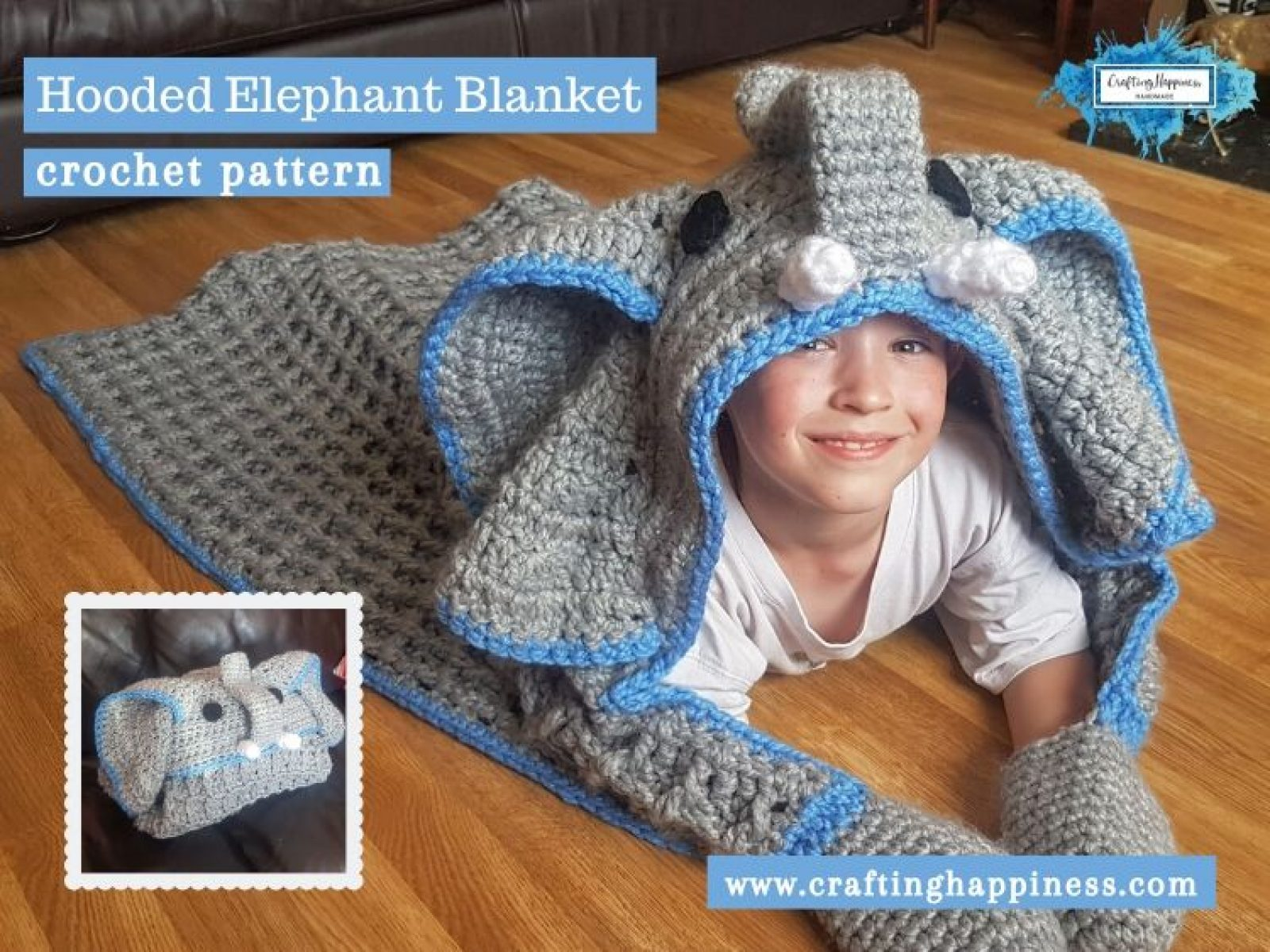 How to crochet an elephant application applique - YouTube | 1200x1600