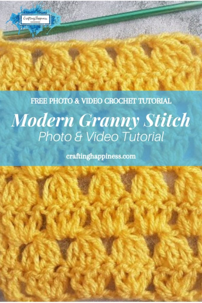 How To Crochet The Modern Granny Stitch Photo & Video Tutorial by Crafting Happiness