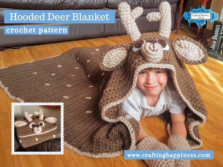 Hooded Deer Blanket by Crafting Happiness FACEBOOK POSTER