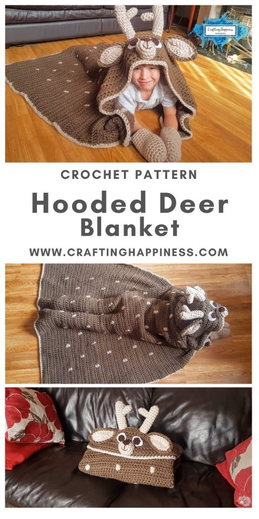 Hooded Deer Blanket by Crafting Happiness MAIN PINTEREST POSTER 1