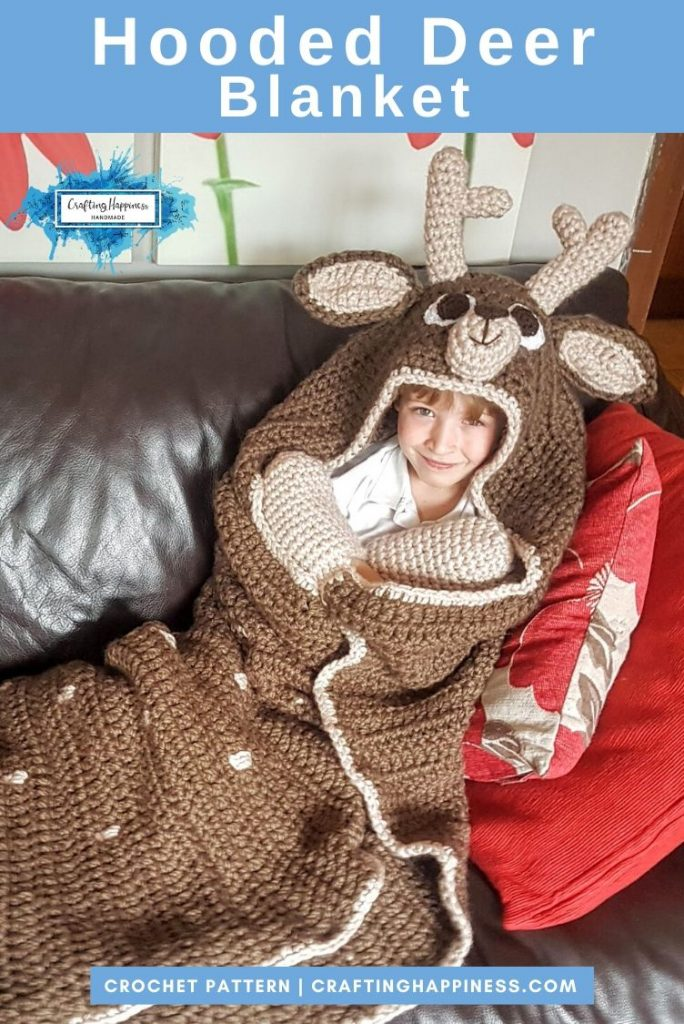 Hooded Deer Blanket by Crafting Happiness PINTEREST POSTER 4
