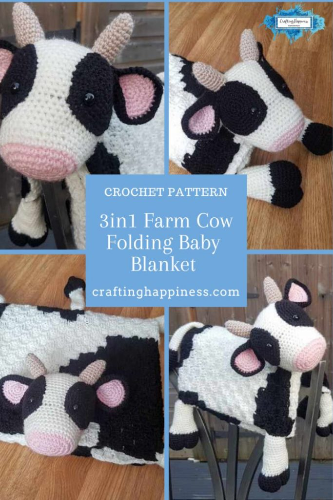 Farm Cow Baby Blanket Crafting Happiness
