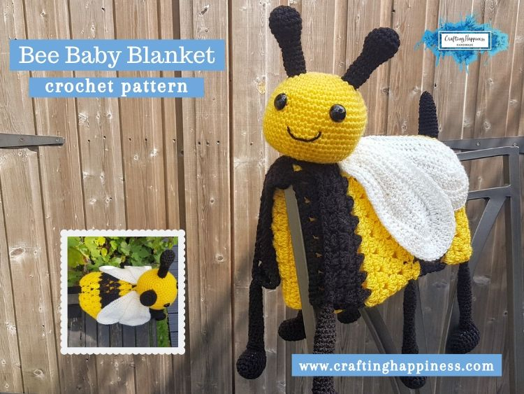 Bee Baby Blanket by Crafting Happiness FACEBOOK POSTER