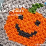Crochet Jack o Lantern Pixel Square Free C2C Graph & Pattern