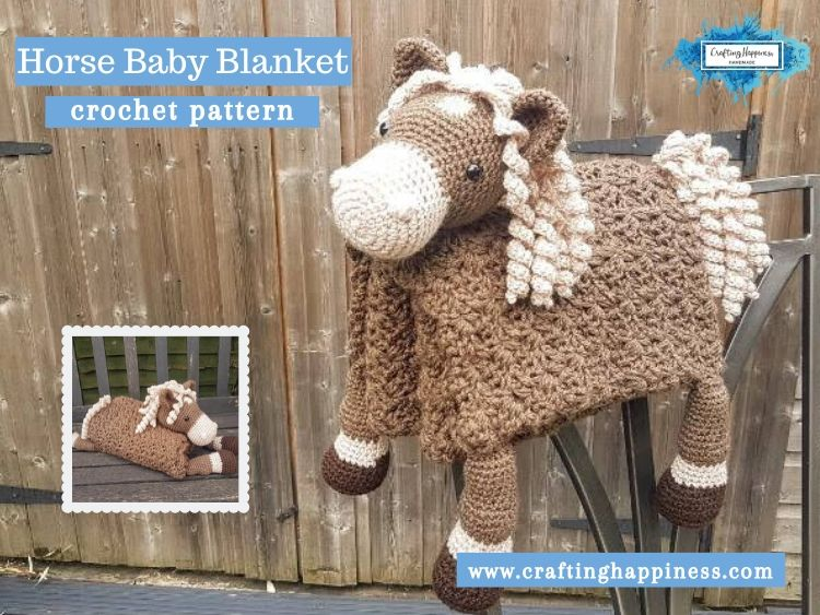 Horse Baby Blanket by Crafting Happiness FACEBOOK POSTER