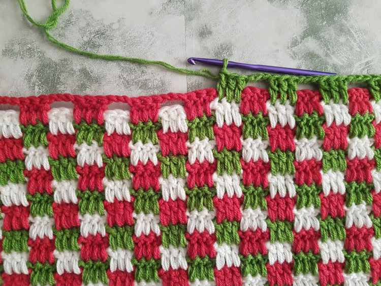 Interlocking Block Stitch (aka Plaid Stitch) Crochet Tutorial For Beginners Step by Step