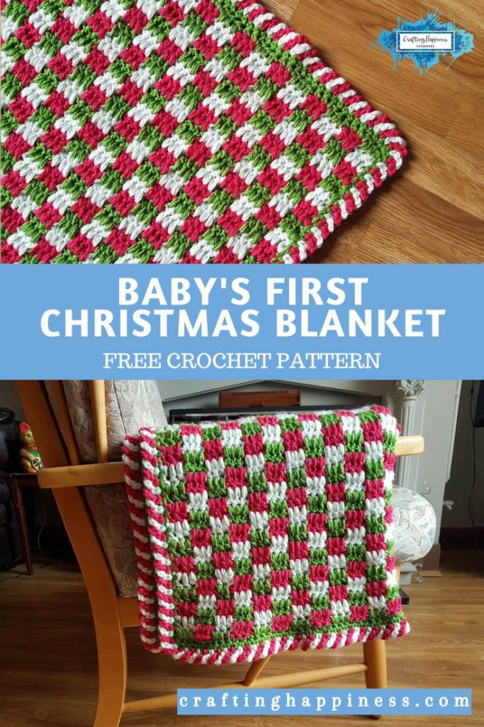 Baby's First Christmas Blanket Free Crochet Pattern by Crafting Happiness