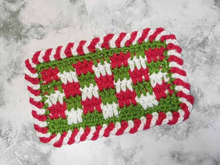 Easy Crochet Candy Cane Border For Beginners - Simple Crochet Border For Baby Blanket 6