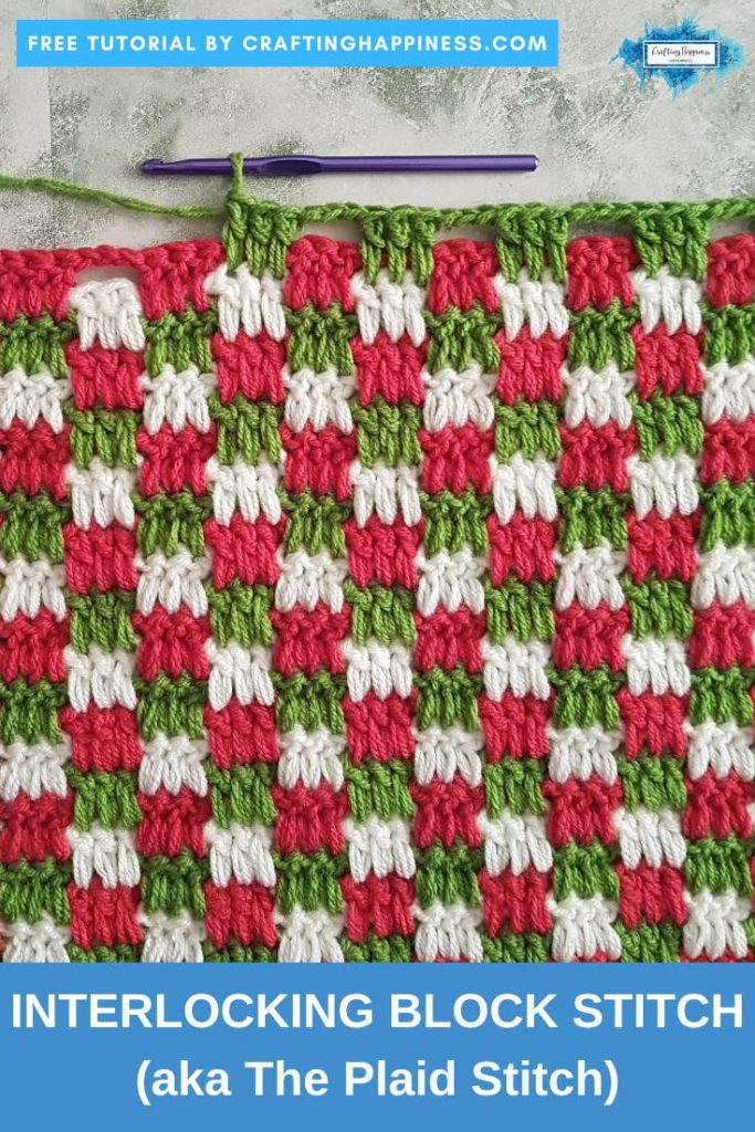Easy Crochet Candy Cane Border For Beginners - Simple Crochet Border For Baby Blanket PINTEREST POSTER