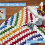 Hooded Unicorn Blanket Pattern by Crafting Happiness FACEBOOK POSTER