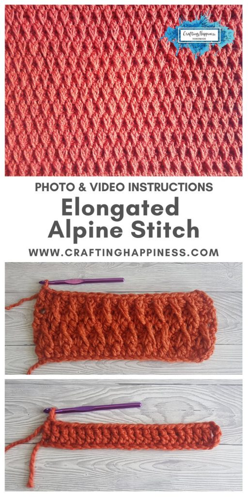 How To Crochet The Elongated Alpine Stitch For Chunky Blankets