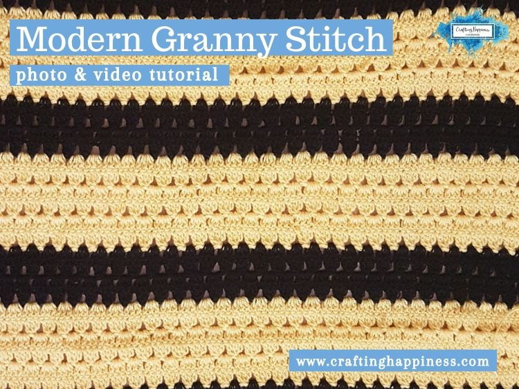 Modern Granny Stitch by Crafting Happiness FACEBOOK POSTER