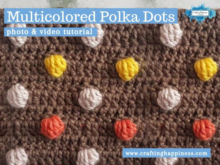 Multicolored Polka Dots by Crafting Happiness FACEBOOK POSTER