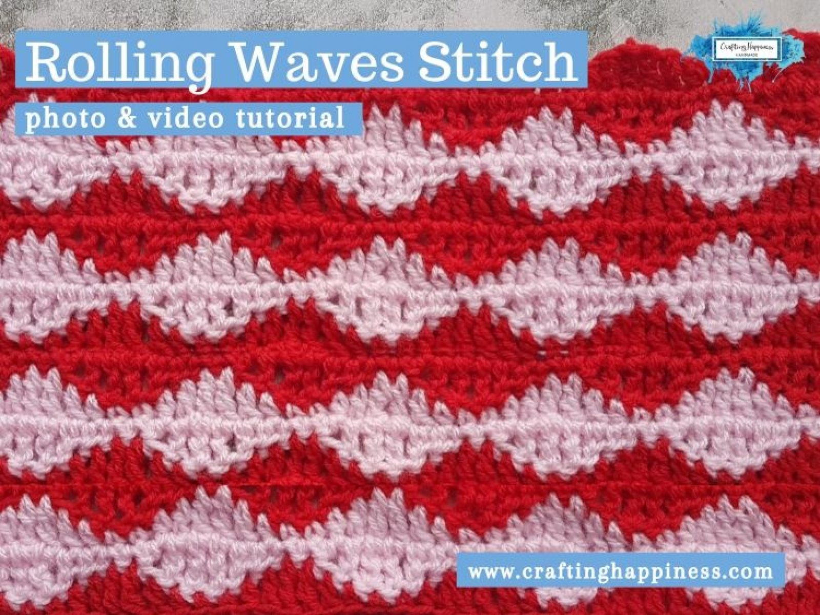 Rolling Waves Stitch by Crafting Happiness FACEBOOK POSTER