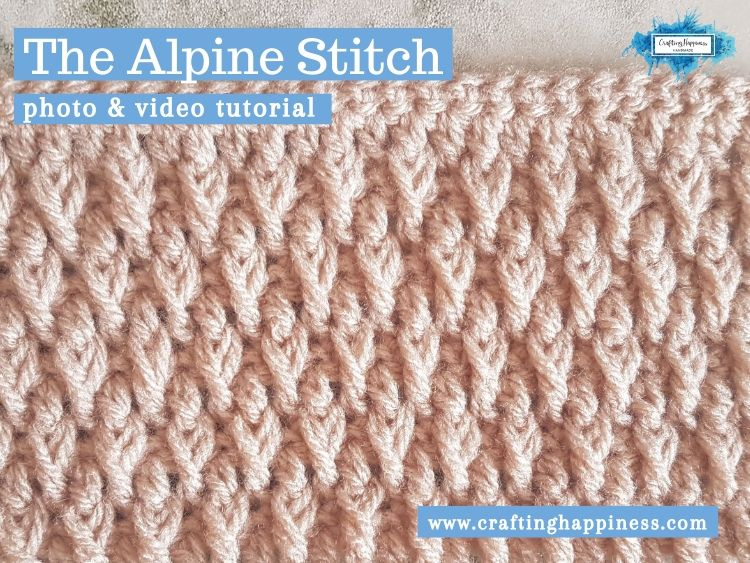 The Alpine Stitch by Crafting Happiness FACEBOOK POSTER