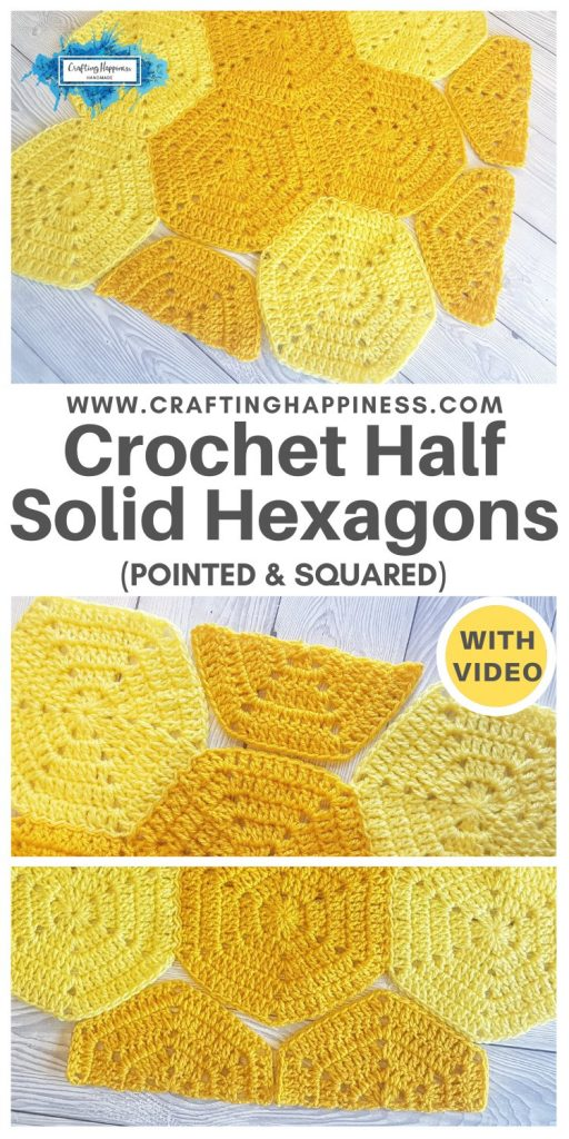 Crochet Half Solid Hexagon (Pointed & Squared) PINTEREST POSTER 1