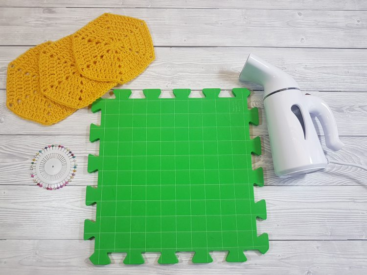 How To Block Crochet Step By Step Tutorial Steam Blocking