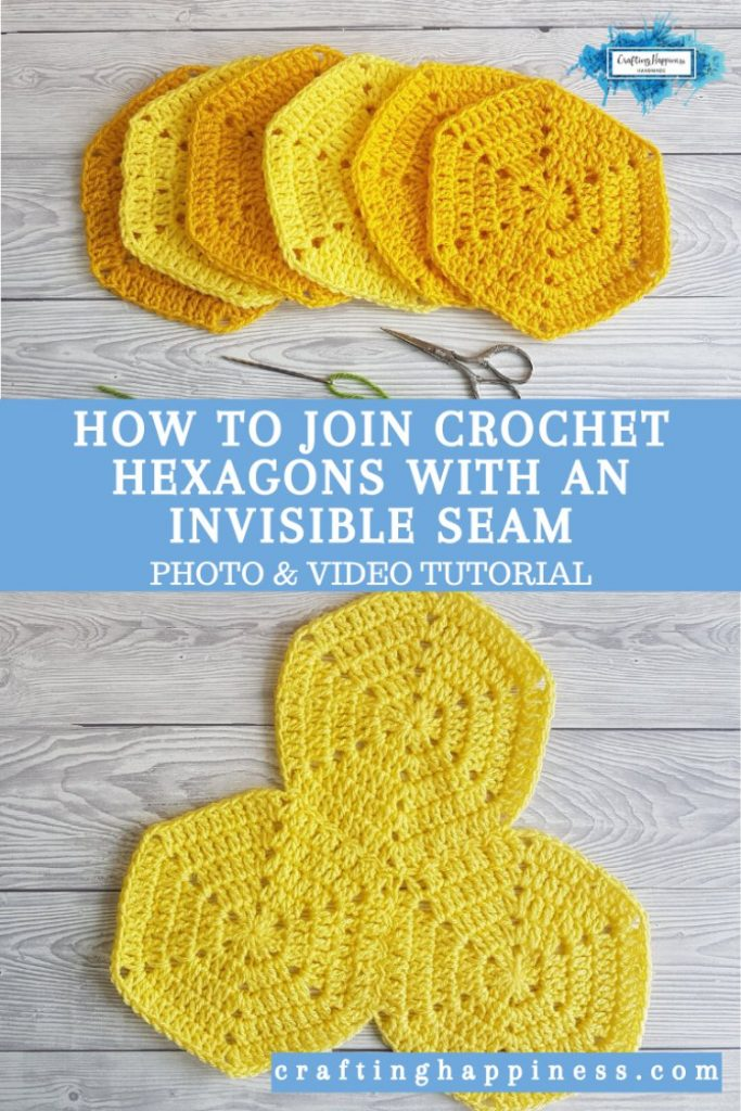 Invisible Seam - How To Join Crochet Hexagons