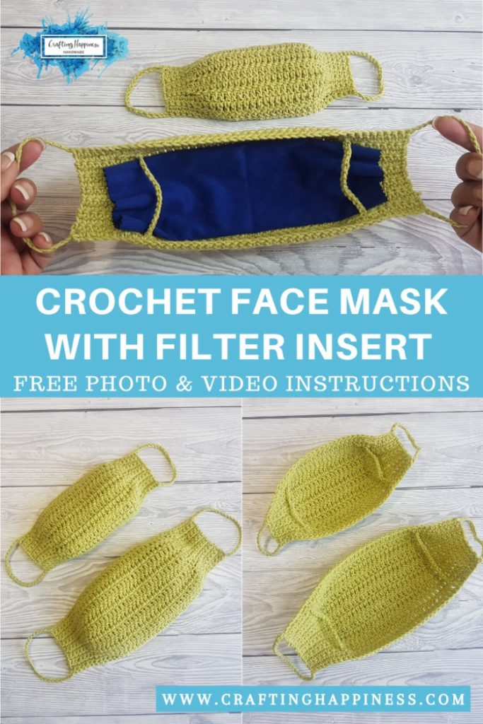 Easy Crochet Face Mask With Filter Pocket PINTEREST POSTER 4