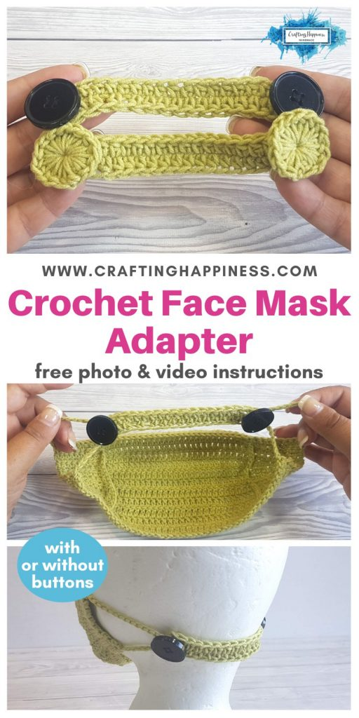 Crochet Face Mask Adapter EVEN IF YOU DON'T HAVE BUTTONS PINTEREST POSTER 1